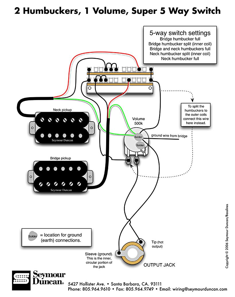 Wiring DiMarzio and INF4 - Jemsite | Guitar pickups, Electric guitar,  Electricity | Guitar Wiring Diagrams Dimarzio |  | Pinterest