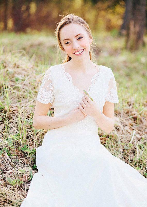 Boho wedding dress Wedding dress Romantic Wedding Dress Long Short ...