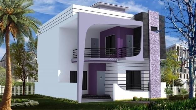 Duplex house plans 200 sq yards vishal dhingra for Front elevations of duplex houses