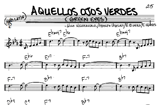 Download Real Book - Melody/Chords sheet music to Aquellos Ojos ...