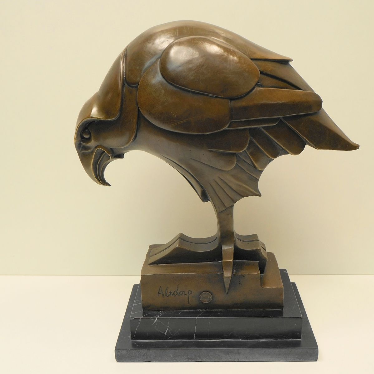Art fairs mechanical movement metal paris russia sculptures wood - Statue Sculpture Eagle Bird Wildlife Art Deco Style Art Nouveau Style Bronze Sig