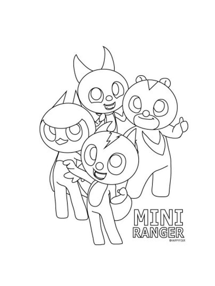 Miniforce Coloring Pages : miniforce, coloring, pages, Dibujos, Colorear, MiniForce, Gratis., Descargar, Imprimir, Cartoon, Coloring, Pages,