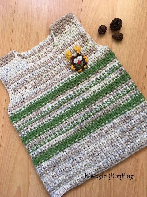 Free Crochet Patterns And Diy Crochet Charts Easy Owl Vest