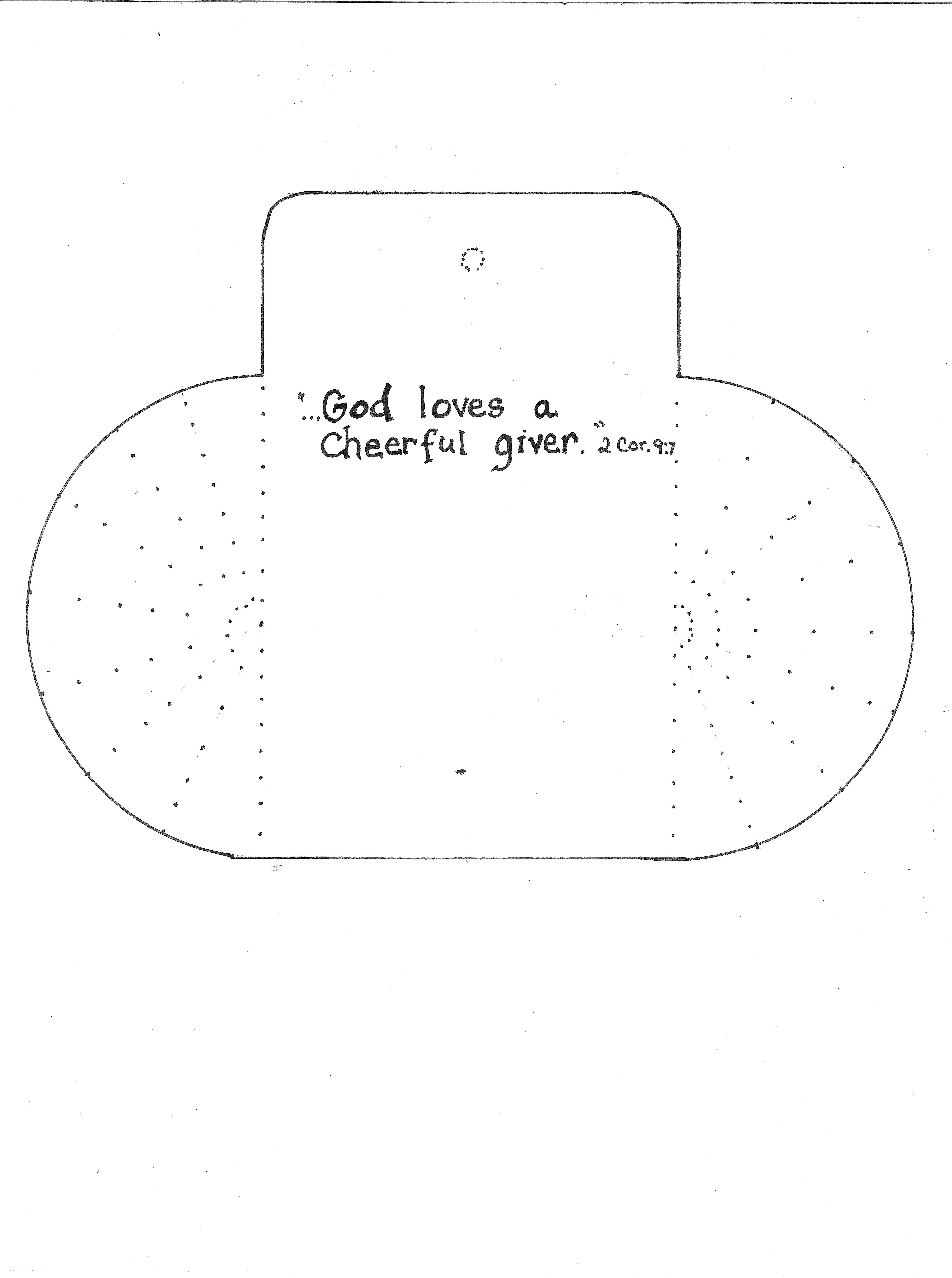 Cheerful Giver Coloring Page Coloring Pages Bible Coloring