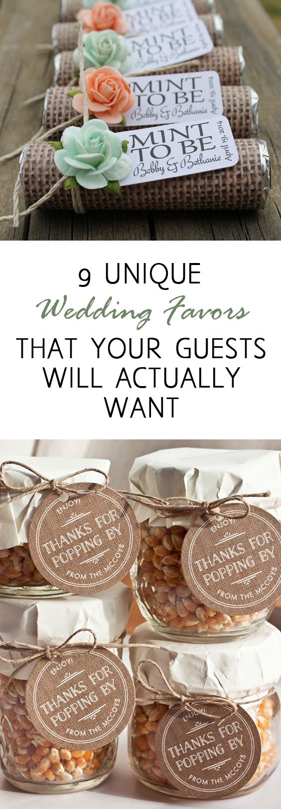 9 Unique Wedding Favors That Your Guests Will Actually Want