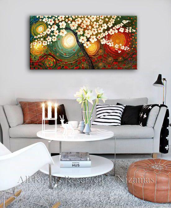 Photo of Arte de pared oculto edén giclee PRINT en lienzo de pintura al óleo original regalo moderna decoración del hogar listo para colgar