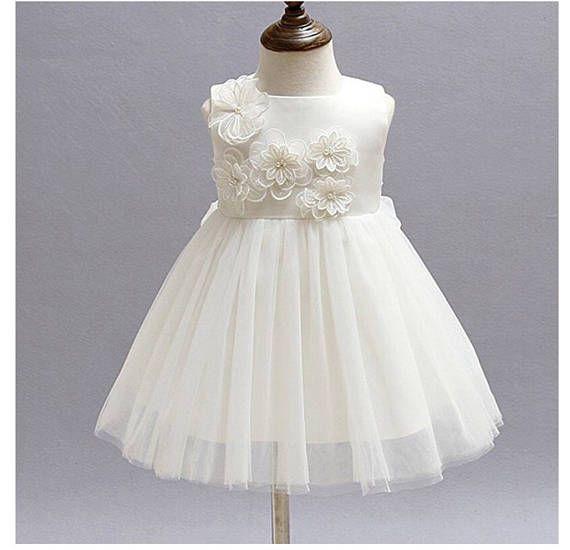 3156d917d Niña blanca de bautizo vestido blanco perla dedicación | Dako ...