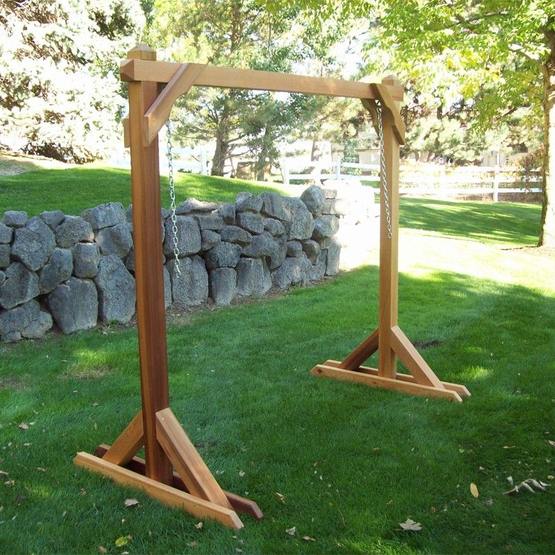 Wood country red cedar swing frame for porch swings 4bs 1 things pinterest outdoor - Wooden garden swing ideas ...