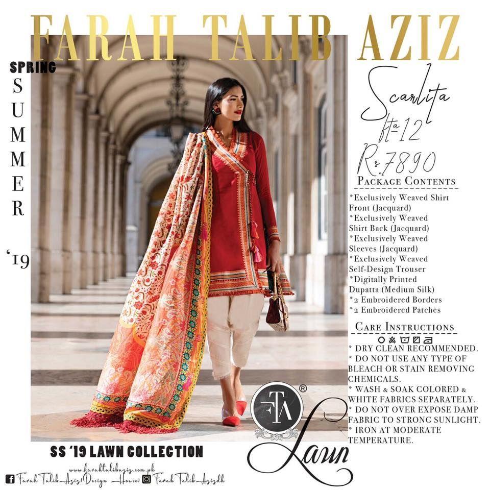 898fc15b97 Farah Talib Aziz Lawn 2019 - PK Vogue | 1000 Ideas Of Pakistani ...