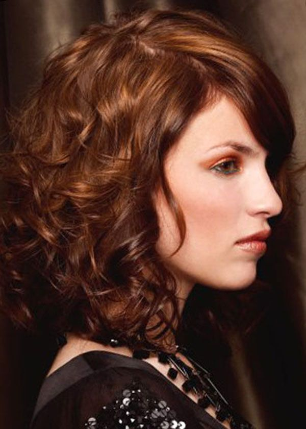Shoulder Length Hairstyles For Dark Brown Hair : Versatile medium curly hairstyles for any face and age