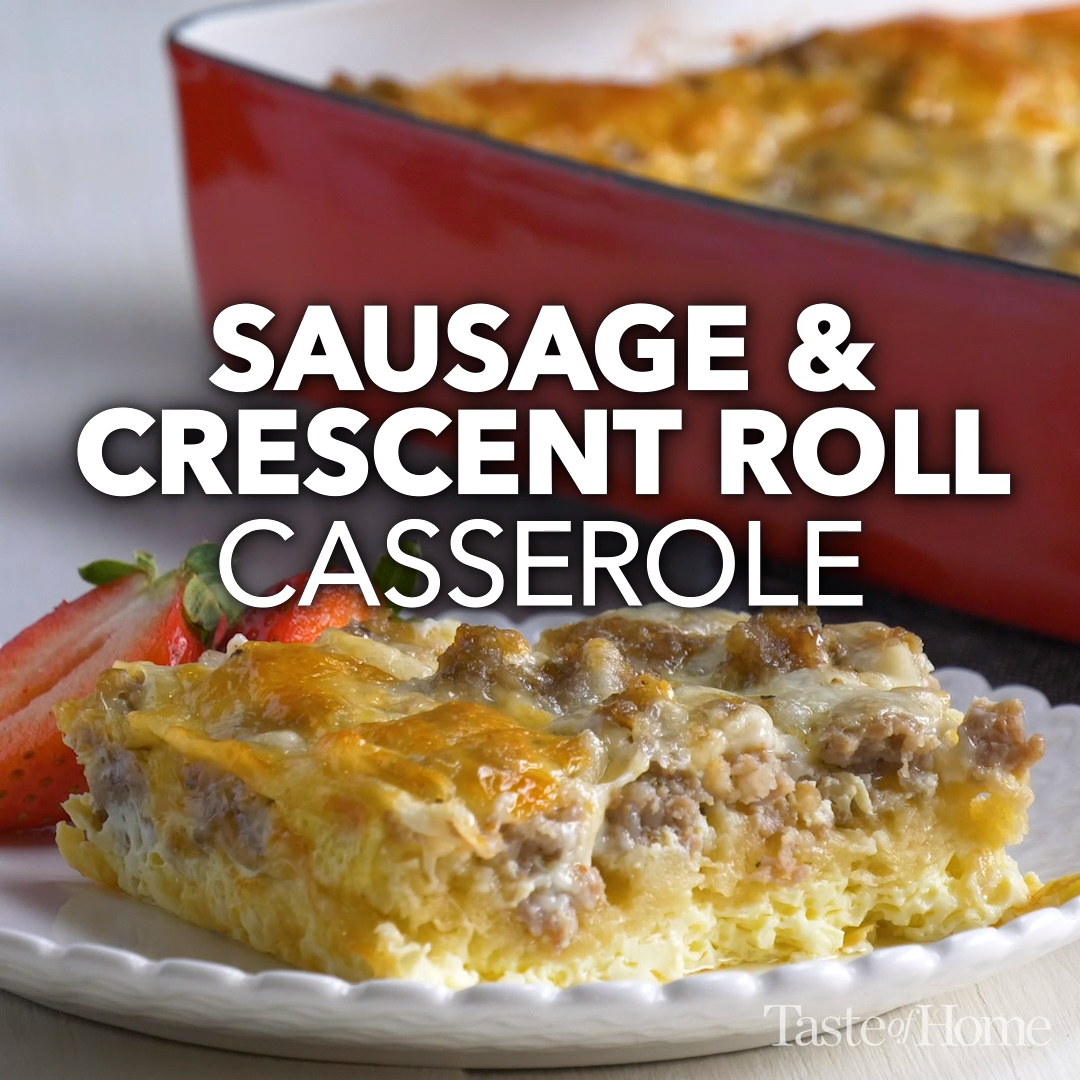 Photo of Sausage & Crescent Roll Casserole