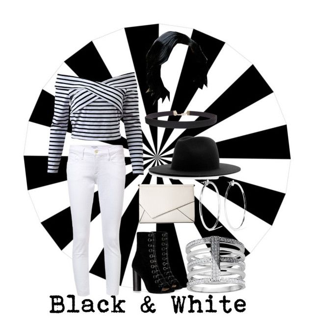 """""""Black & White"""" by j3029208g ❤ liked on Polyvore featuring Frame, Barbara Bui, Kendall + Kylie, Études, Humble Chic and Jennifer Fisher"""