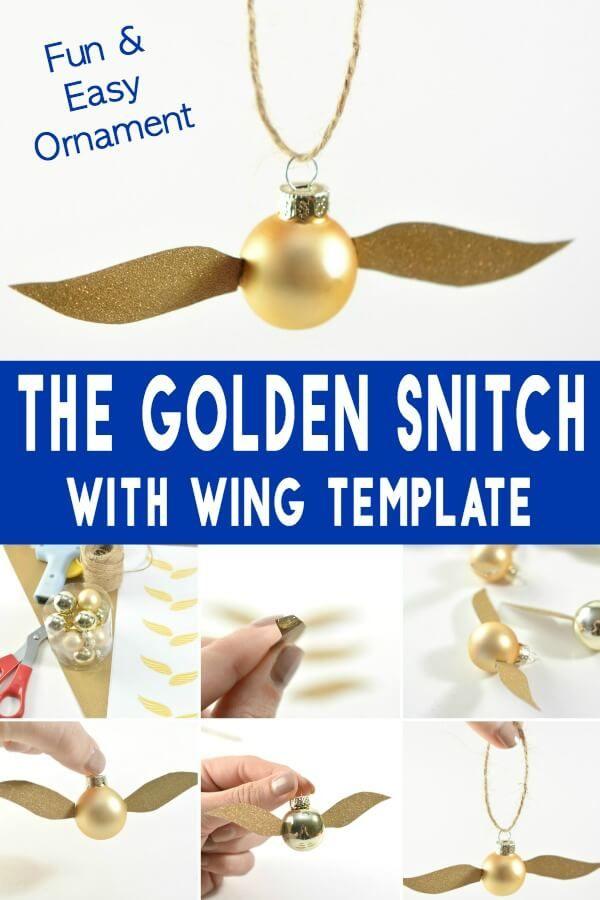 diy golden snitch ornament a harry potter christmas craft diy