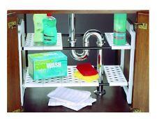 Under Sink Rack Shelf Storage Organiser Space Cleaning Utensils Unit Counter Top