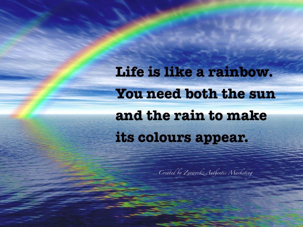 Rainbow Quote Quote Number 552596 Picture Quotes Rainbow Quote Picture Quotes Life