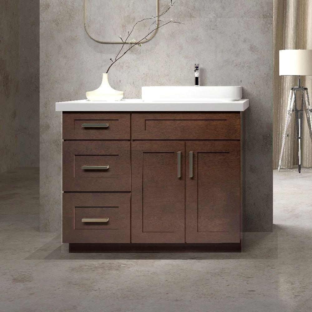 Cowry Vac Ep Shaker Style Bathroom Vanity Set With 15 In Side