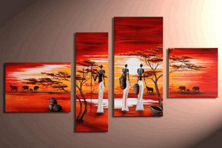 Contemporary art for sale on canvas african woman painting extra large piece wall africanart abstract africanpainting also rh pinterest