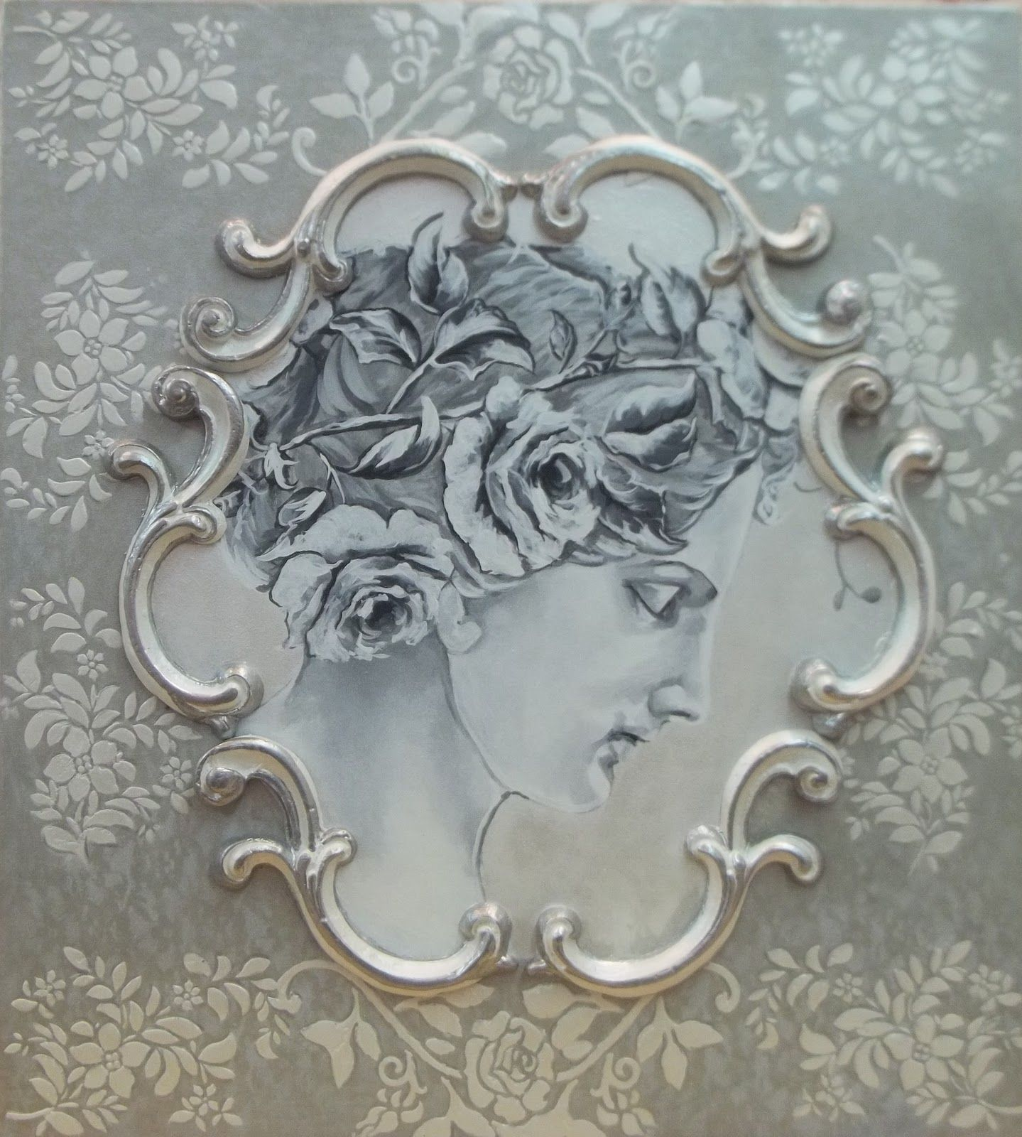 Original Royal Rococo French Boiserie Panel Rococ 242