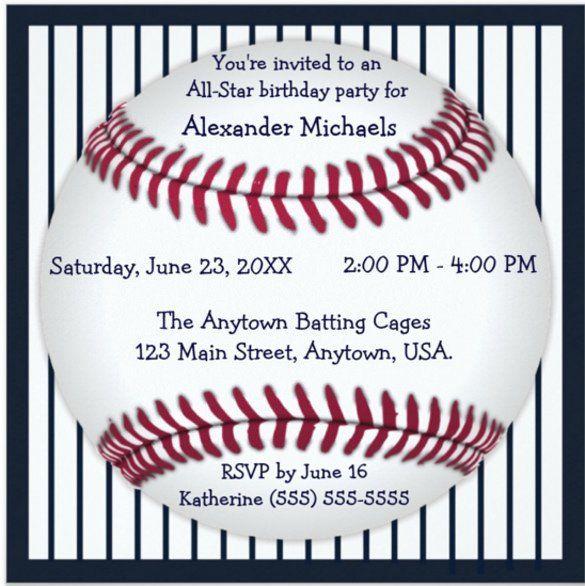 30 Baseball Invitation Template Free in 2020 Invitation