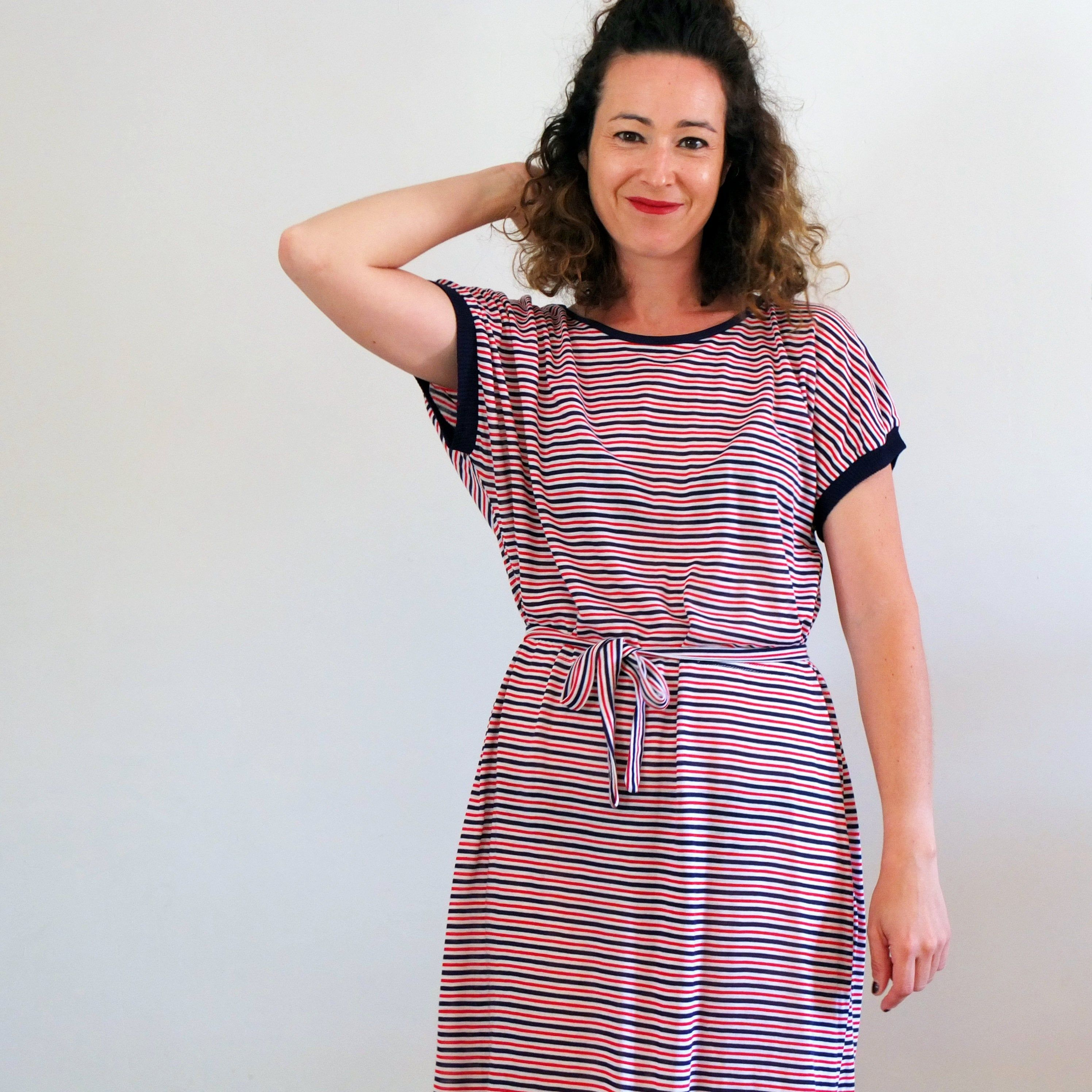 Vintage 80s Summer Striped Dress Loose Day Knit Dress 80s Etsy Striped Dress Summer Knit Midi Dress Striped Sweater Dress [ 2992 x 2992 Pixel ]