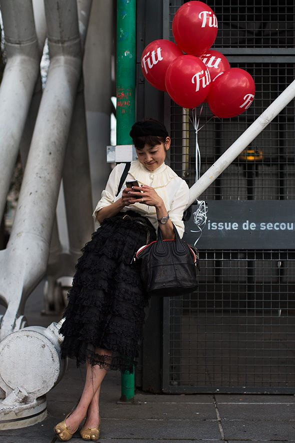 On the Street Paris , Tabis shoes
