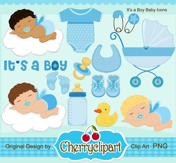 Its A Boy Baby Icon Digital Clipart Set Personal And Etsy In 2021 Baby Icon Clip Art Baby Boy Scrapbook