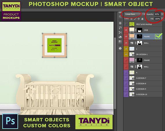 78b1e75c0cd1 Nursery Interior N07 Square Print Mockup Set of 2 3 4