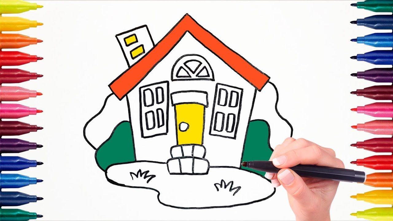 Как нарисовать и раскрасить дом фломастерами | Раскраска ...