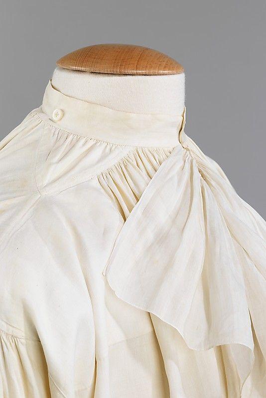 Shirt ca. 1780 French, linen   18th century clothing