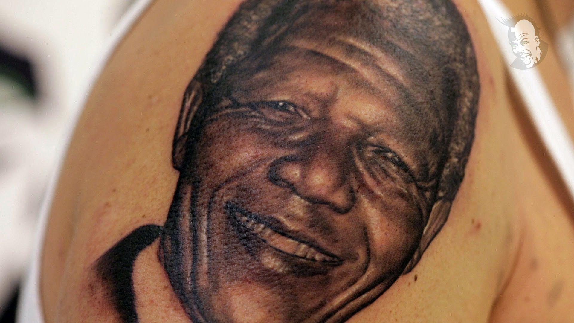InkMe TV Folge 5 - Woon Kim - Nelson Mandela Tattoo Portrait - YouTube