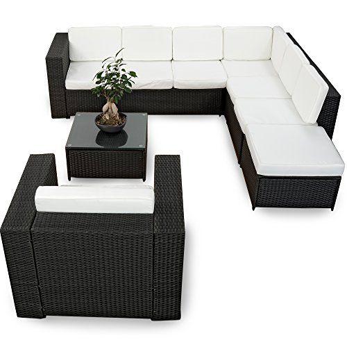 XINRO 22tlg. Polyrattan Gartenmöbel Lounge Set (Modell 2017 ...