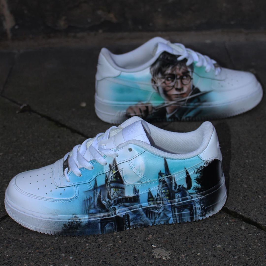 Behind The Scenes By Customsneakerdude Harry Potter Shoes Harry Potter Outfits Custom Harry Potter