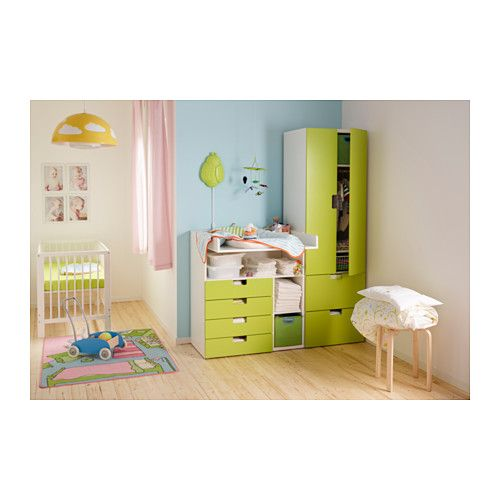 stuva changing table with 4 drawers white green ikea baby pinterest wickeltisch. Black Bedroom Furniture Sets. Home Design Ideas