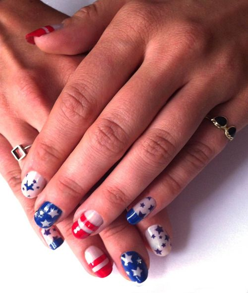 July 4 Nail Design Five Super Neat Ways To Glam Up Your Nails For