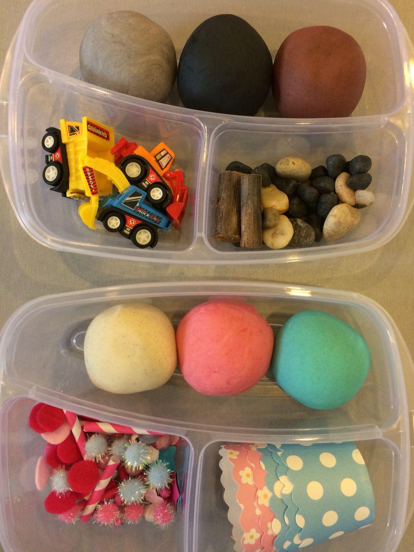 Construction & cupcake playdough kits Playdough