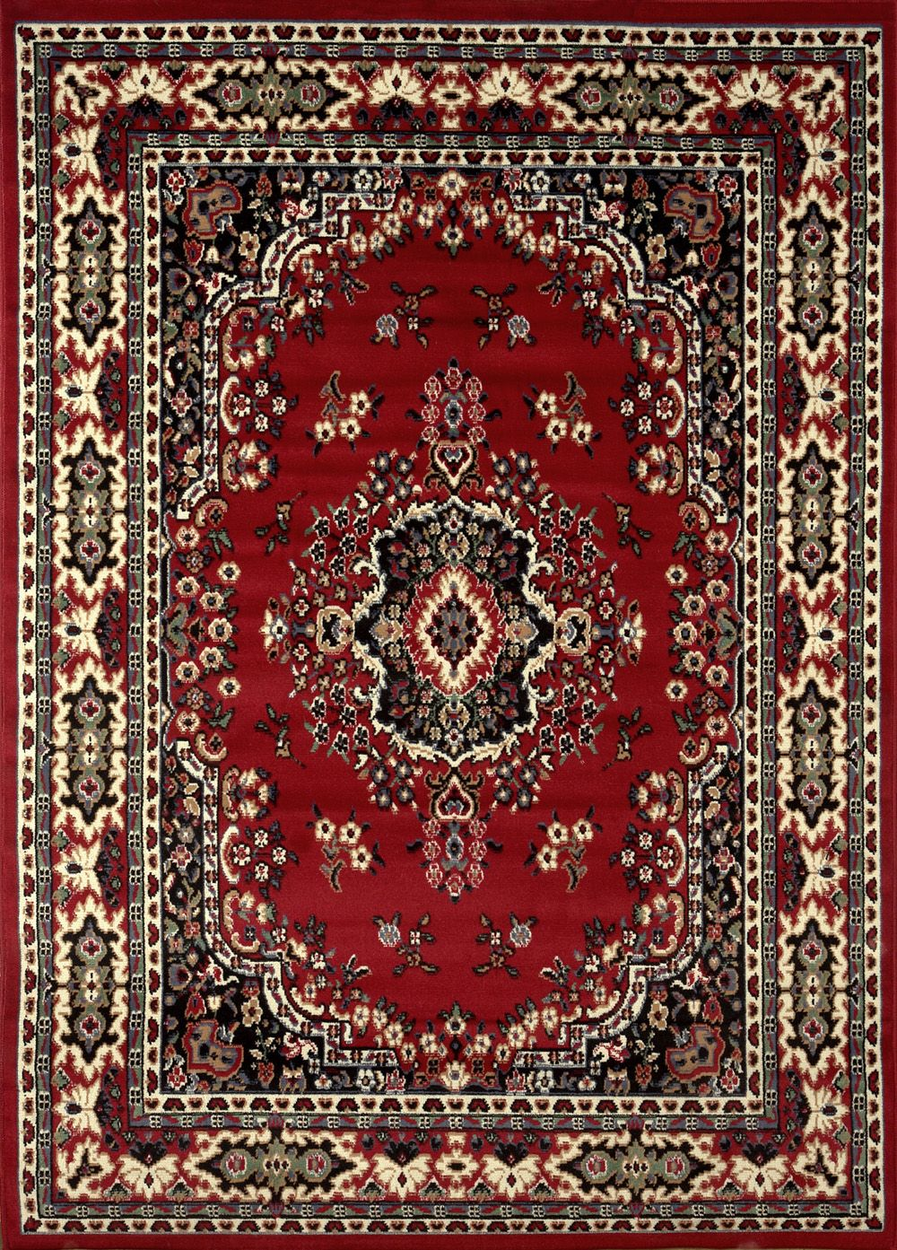 Large traditional 8x11 oriental area rug persian style carpet approx 78 x108