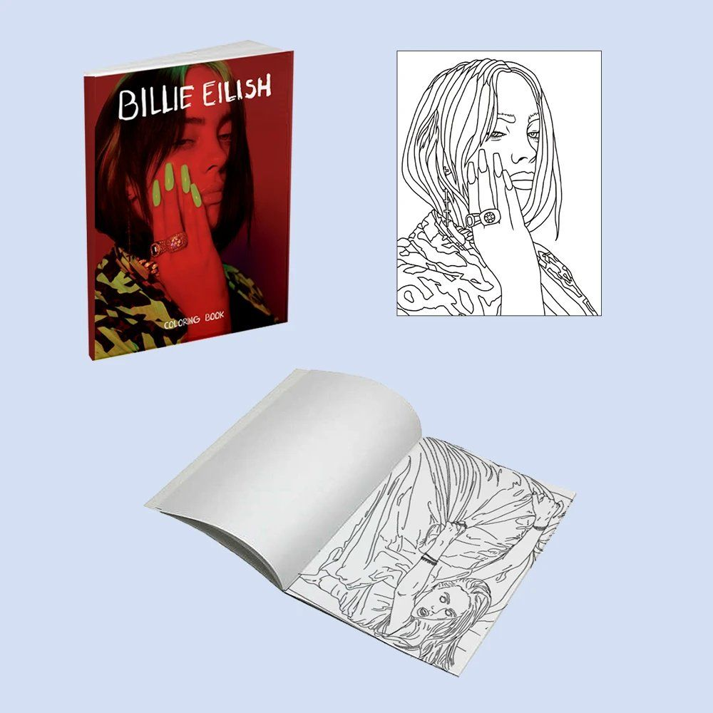 Coloring Book Available On Billie S Merch Site In 2020 Anatomy Coloring Book Coloring Books Billie Eilish