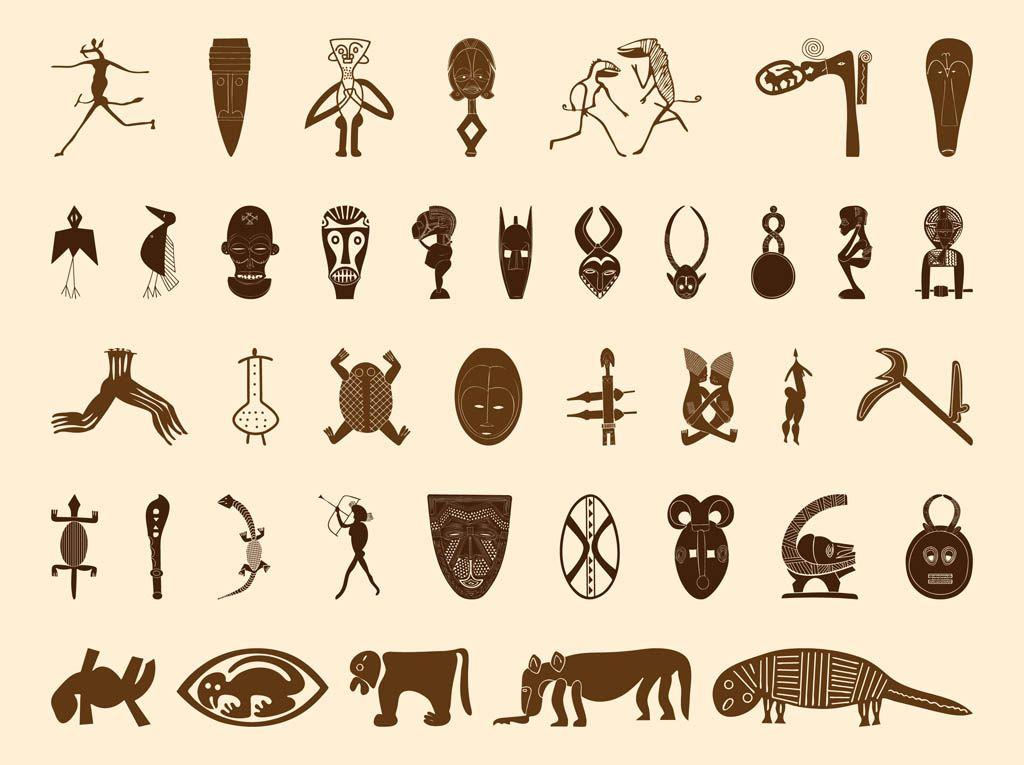 african symbols graphics př237prava eh pinterest