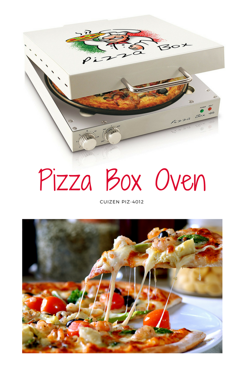 Cooks up to a 12-inch pizza  with an adjustable thermostat control up to 525 degrees Fahrenheit and timer up to 30 minutes!!