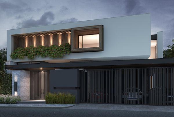 Pin de gianelli olguin sanchez en arquitectura pinterest for Fachadas exteriores de casas modernas