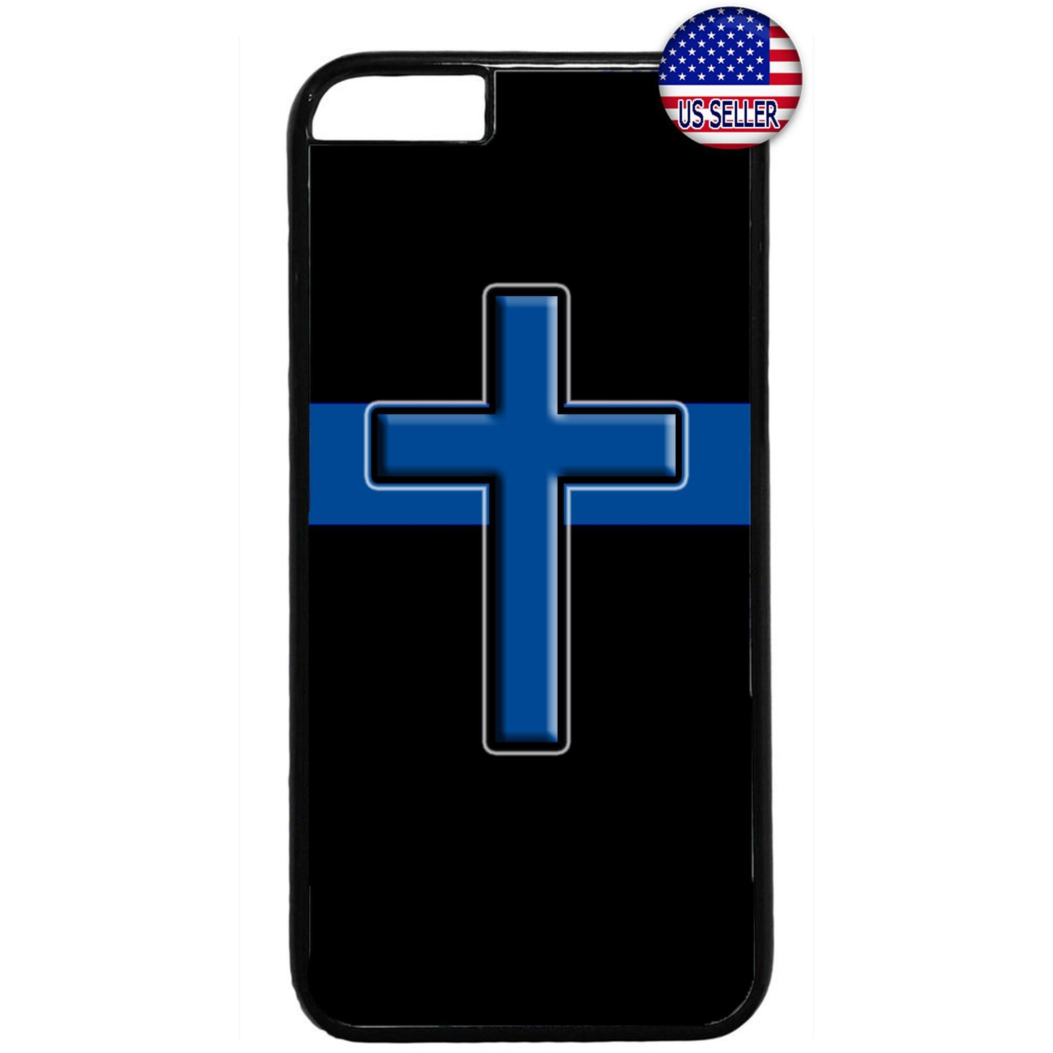 Police Force Cops Cross Blessed Rubber Case Cover For