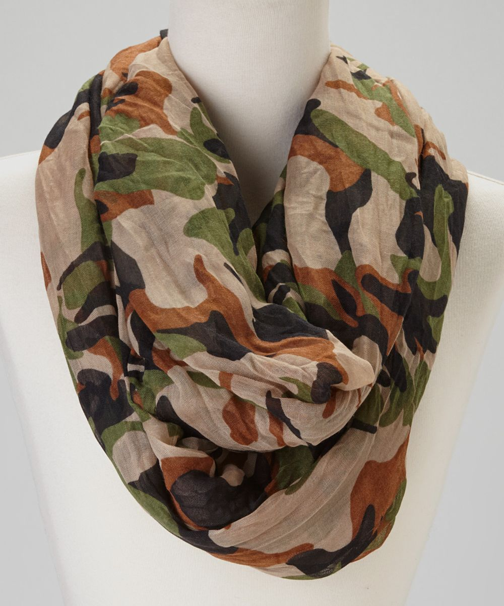Camo scarf cool casual clothes pinterest green chic and brown