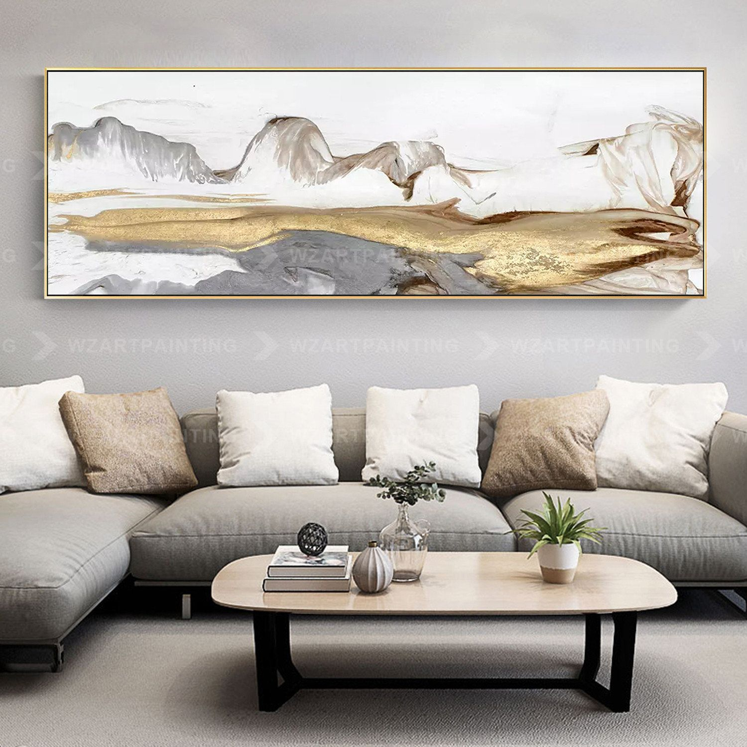 Abstract Mountain Print Painting Frame Wall Art On Canvas Art Etsy In 2020 Contemporary Living Room Art Large Wall Art Living Room Living Room Art #paintings #with #frame #for #living #room