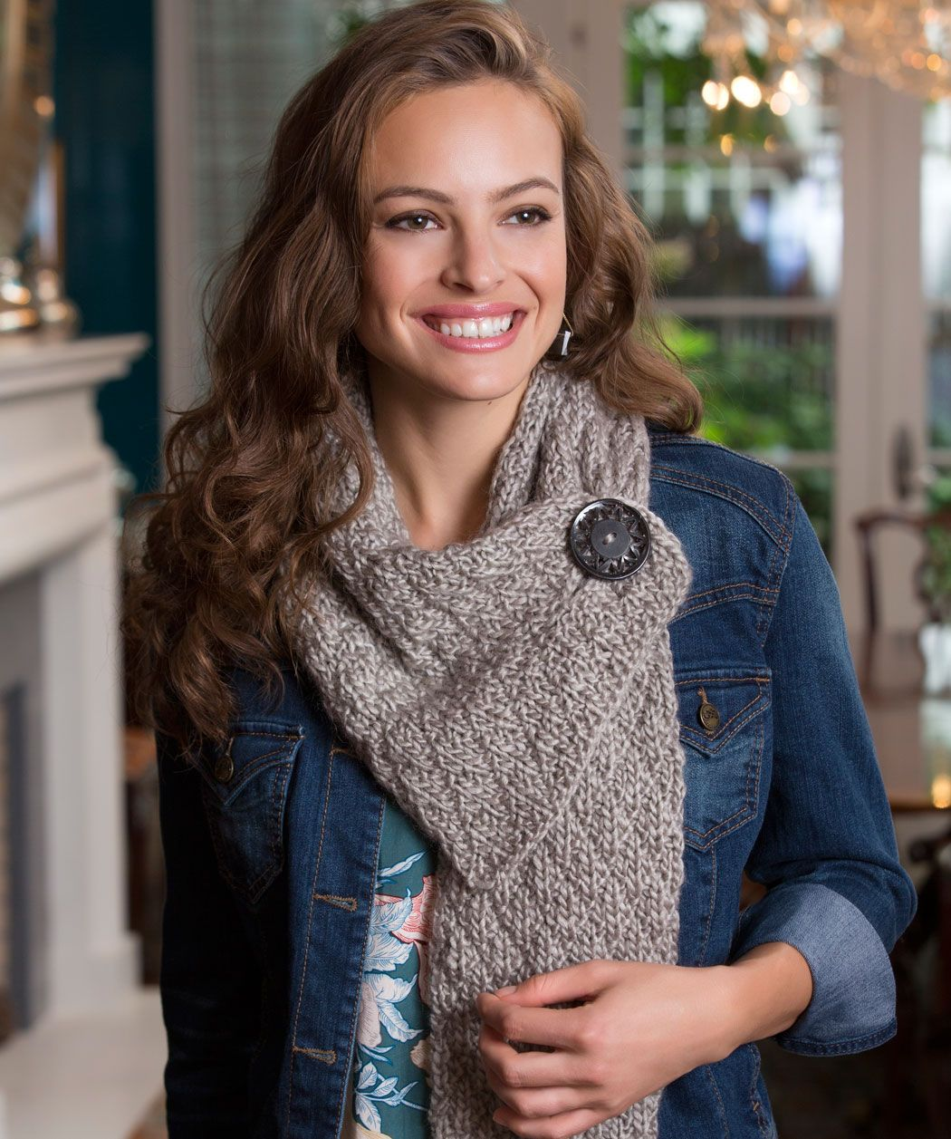 Button diamond scarf free knitting pattern from red heart yarns button diamond scarf free knitting pattern from red heart yarns bankloansurffo Image collections