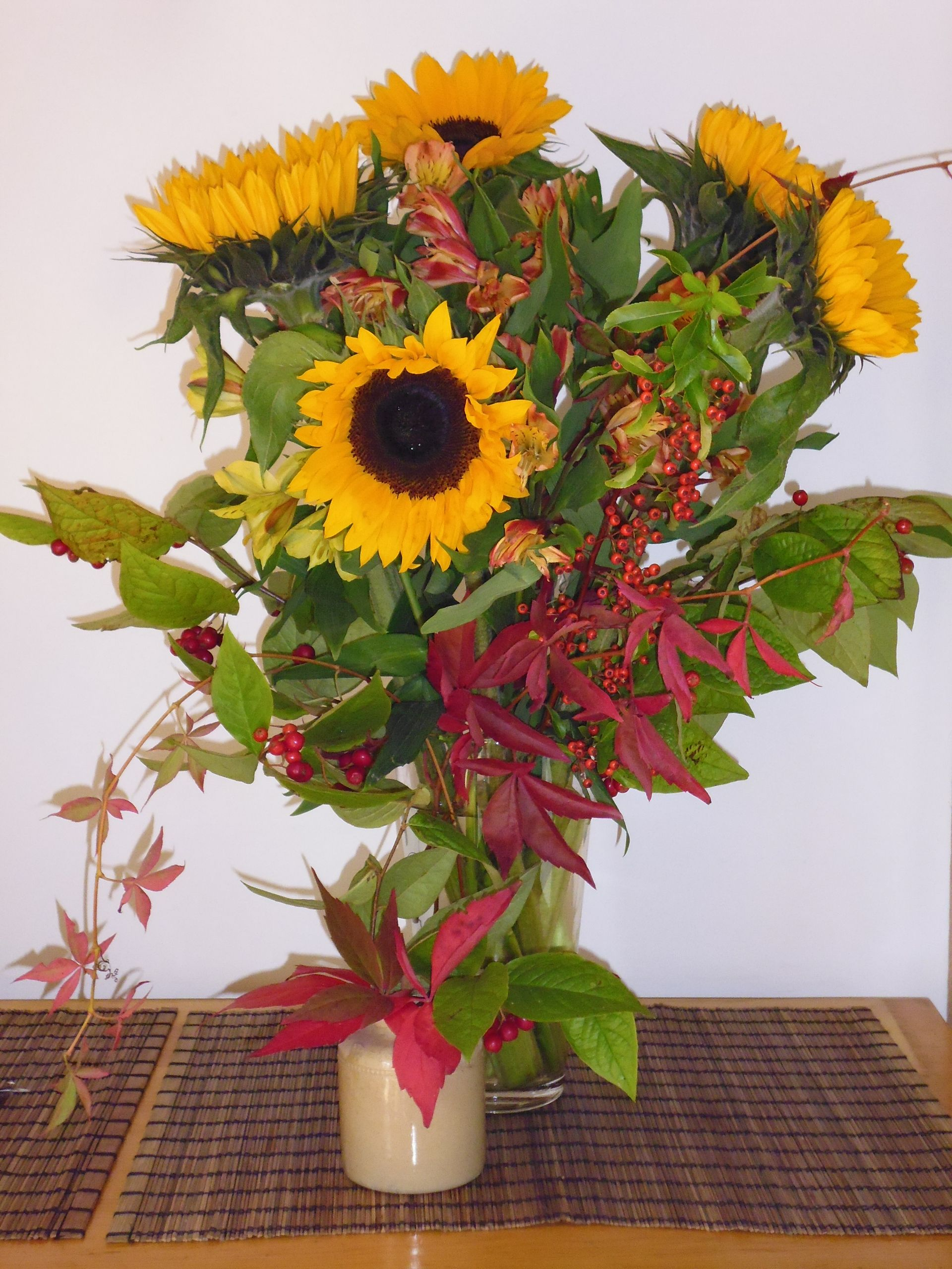 September Sunflowers From Aldi Branches Leaves And 400 x 300