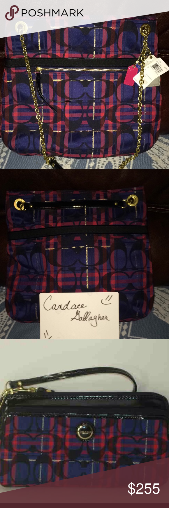 Coach Plaid Tartan Set Brand New with tags Coach Bags Totes