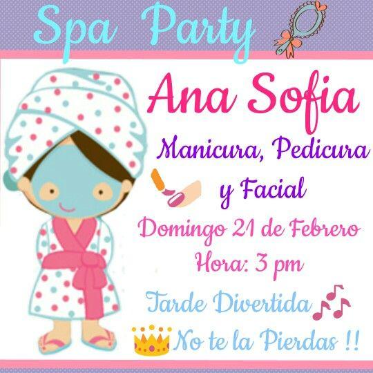Spa Party Idea Para Invitacion Tarjetas De Invitación