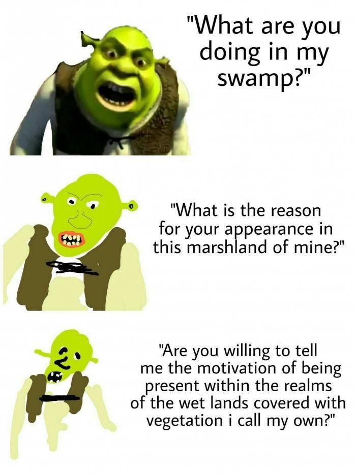 Be More Specific Shrek Sherk Meme Engracado Engracado
