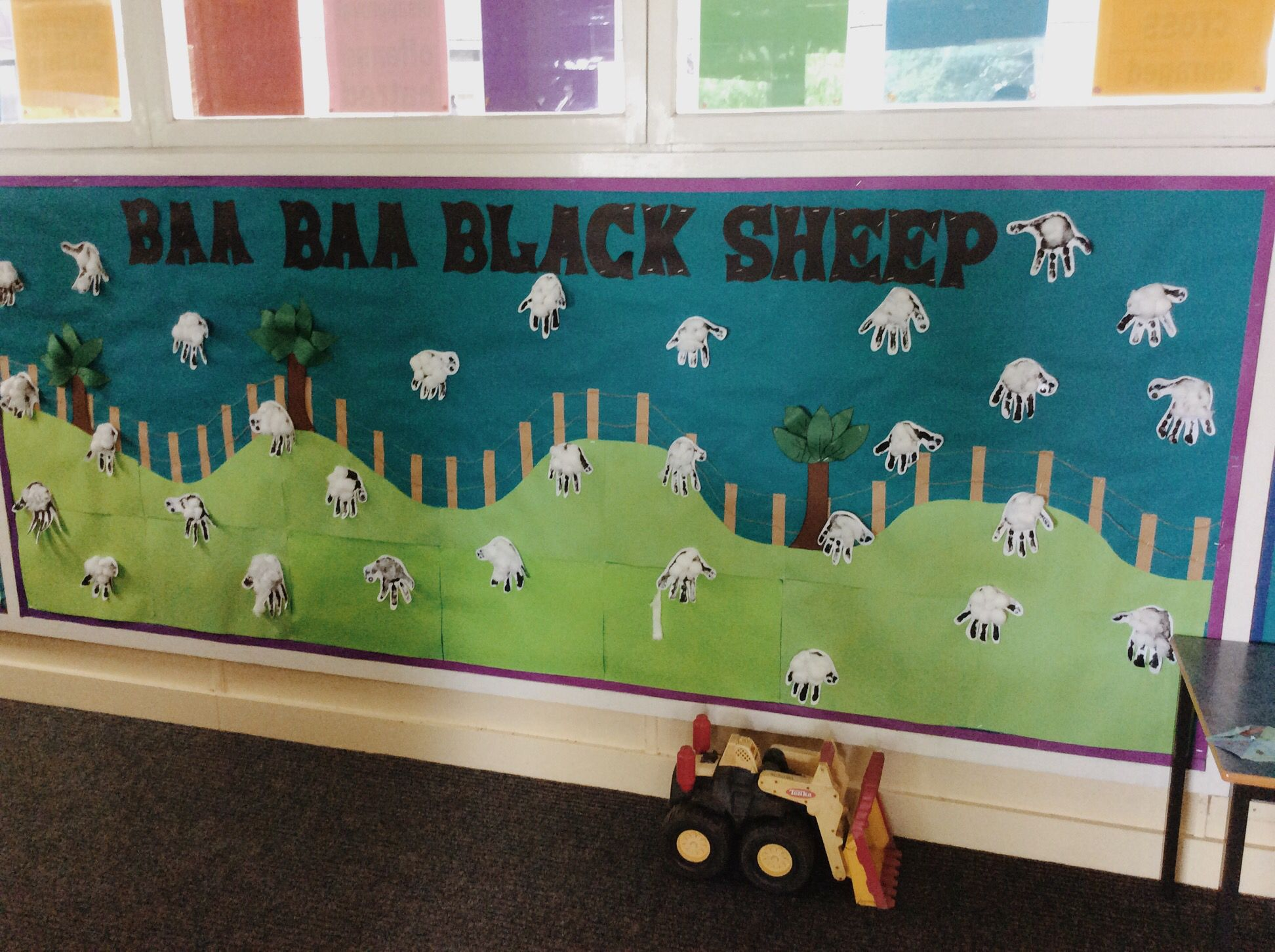 Baa Baa Black Sheep Display During Our Stu S Of The Nursery Rhymes The Students Loved Using