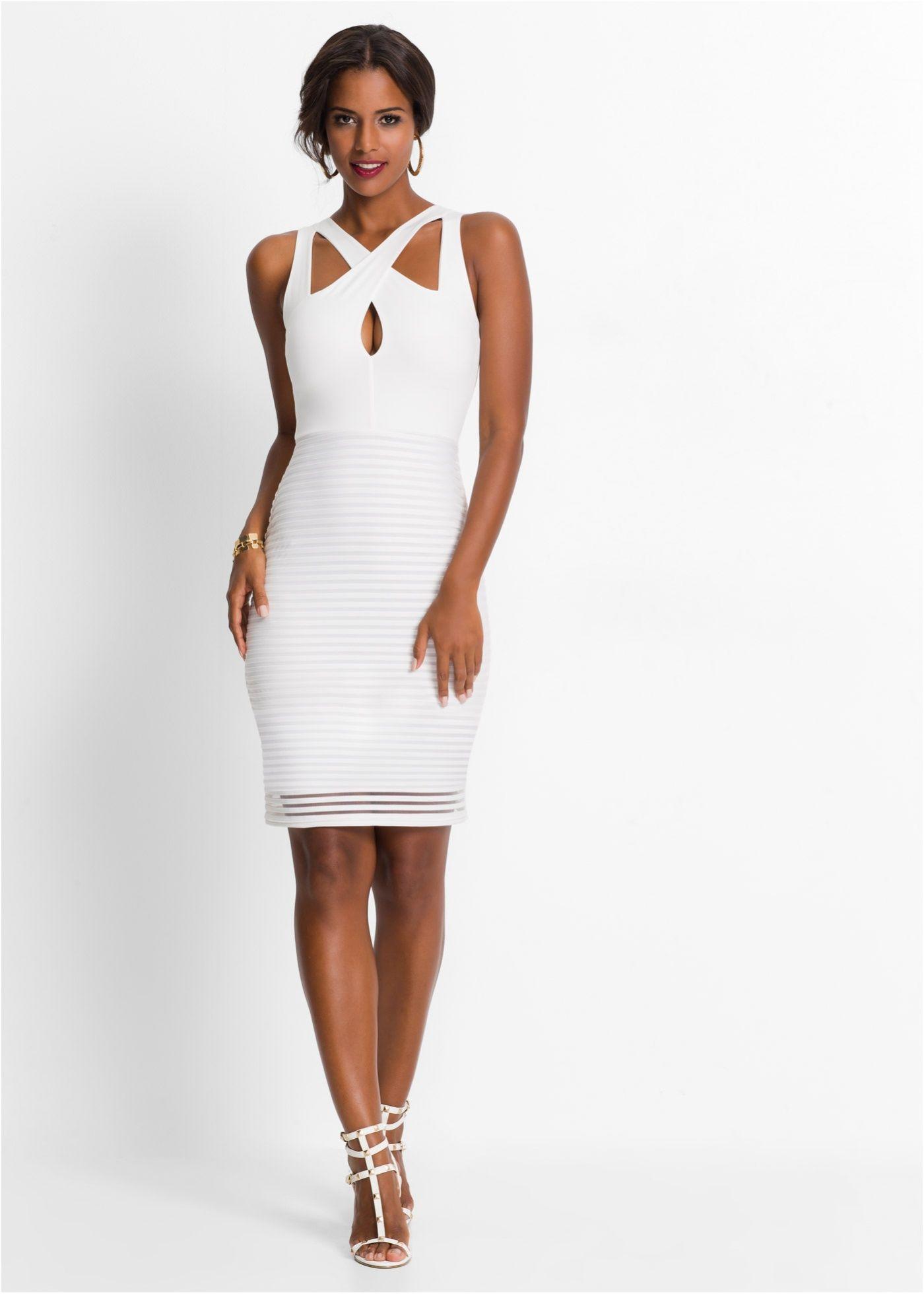 Kleid weiß - BODYFLIRT boutique jetzt im Online Shop von bonprix.de ...